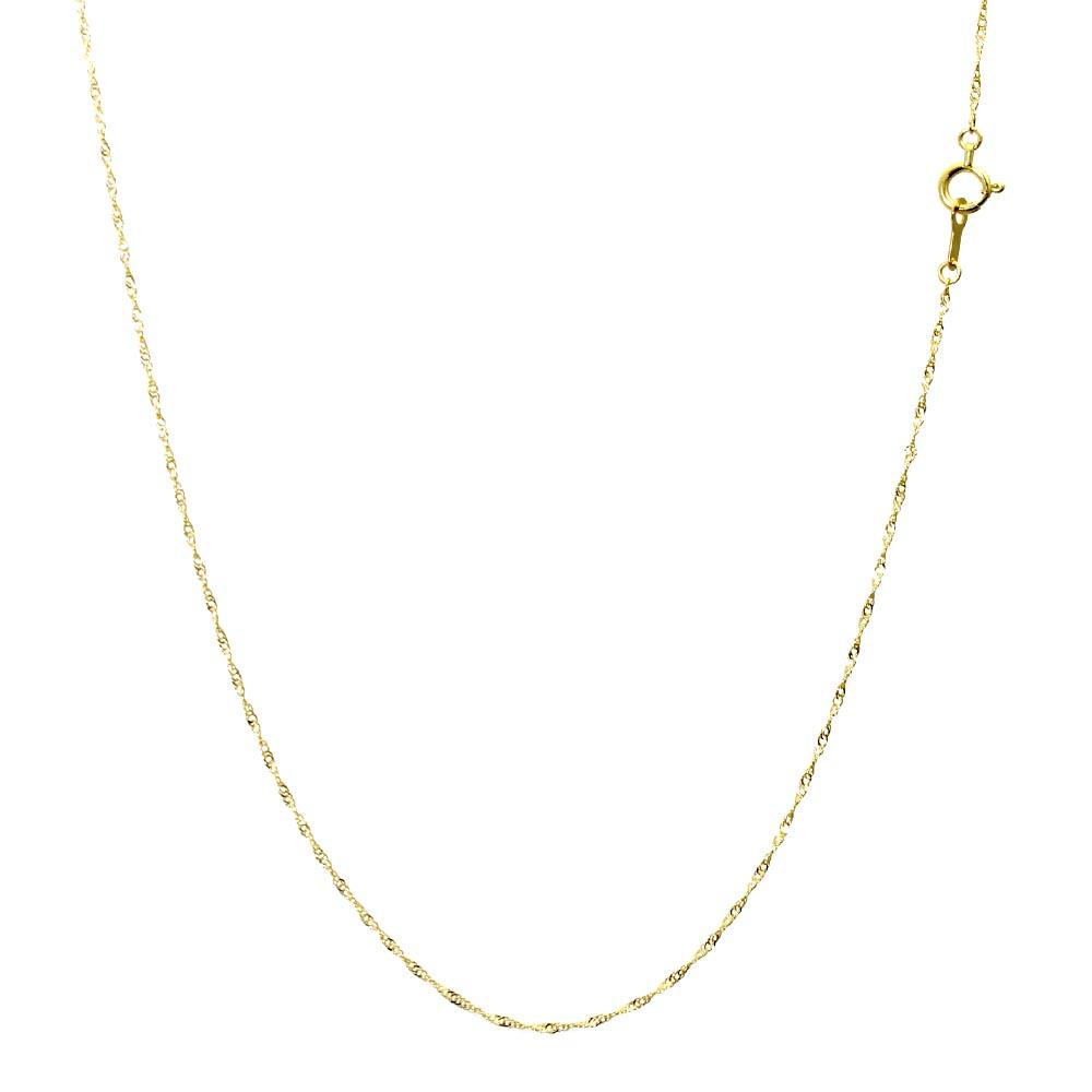 18金 ネックレス チェーン レディース ダブル スクリューチェーン K18 ゴールド 幅 0.92mm/線径 0.15mm/長さ 40cm シアーズ Sears 76041010930
