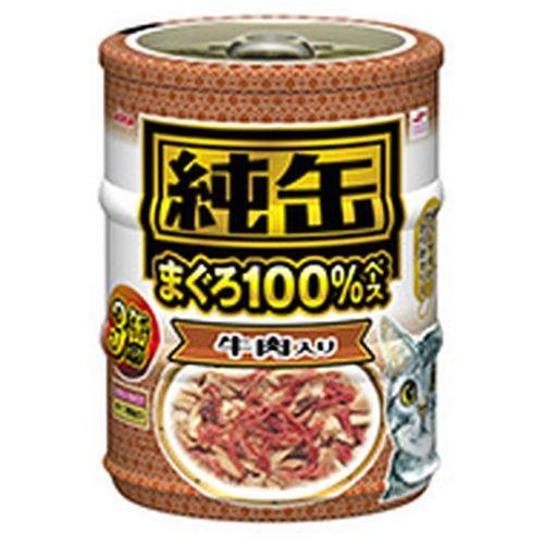 純缶ミニ3P 牛肉入り 65g×3×24入り