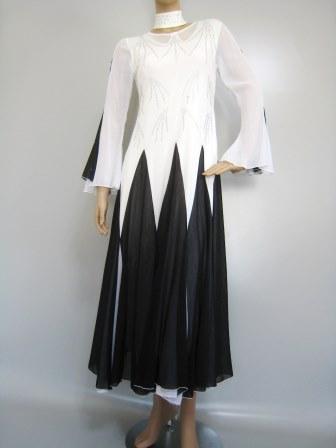 カラオケ衣装 カラオケドレス 大きいサイズ 演奏会 楽器演奏 ステージ衣装に ダイヤストーンモダンドレス 白/黒
