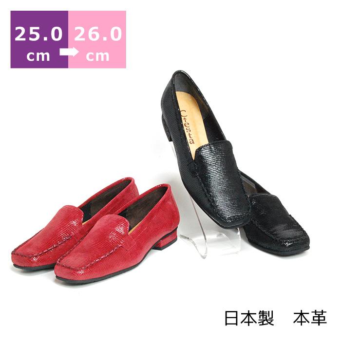 【セール】【送料無料】プリントモカパンプス大きいサイズ 25.0cm 25.5cm 26.0cm センチ ヒール 2cm モデルサイズ レディース 靴