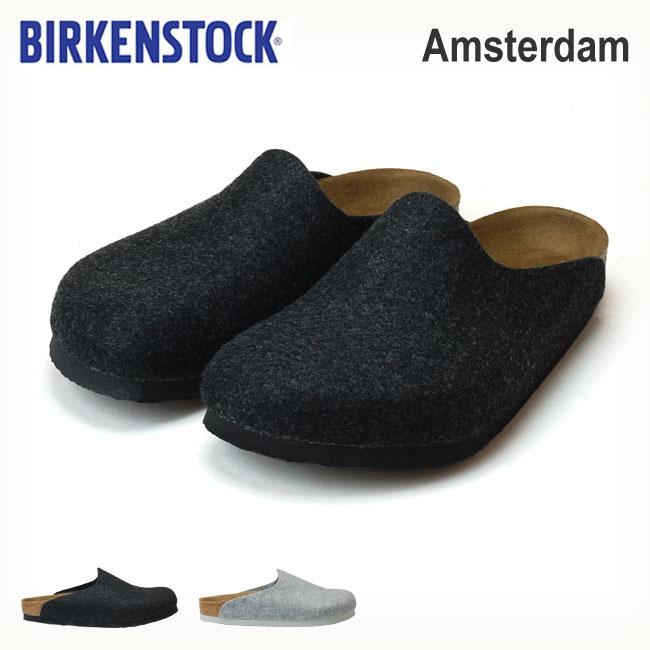 【送料無料】ビルケンシュトック アムステルダム GC559121 GC559111 メンズ レディース サンダル BIRKENSTOCK AMSTERDAM グレー ライトグレー ルームシューズ ウールフェルト 秋 冬 靴 (1810)