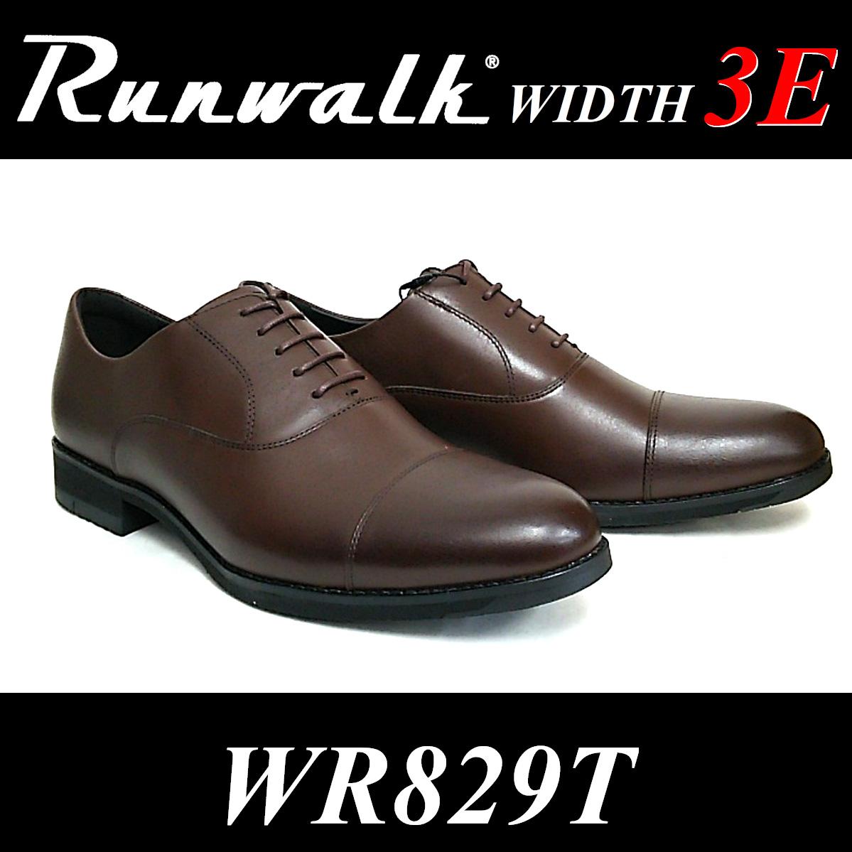 Runwalk メンズ 3E WR829T ビジネスシューズ 内羽根ストレートチップ アシックス ランウォーク asics