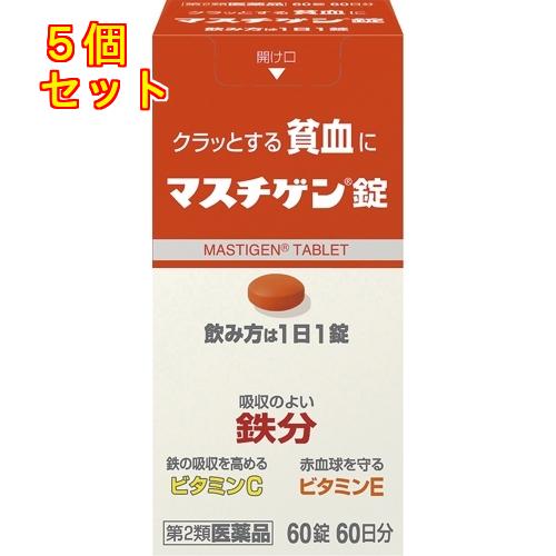 おしゃれ 送料無料 第2類医薬品 60錠×5個 限定タイムセール マスチゲン