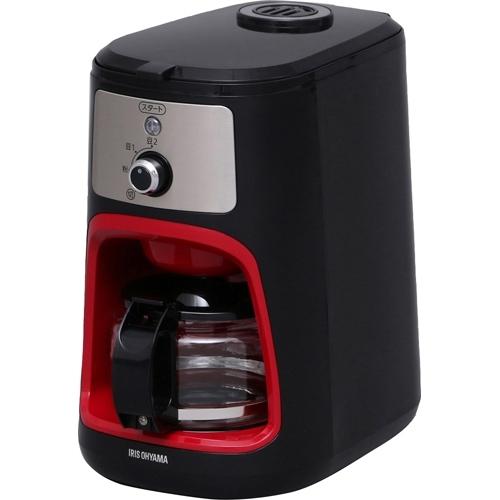 アイリスオーヤマ 全自動コーヒーメーカー IAC-A600 ブラック※取り寄せ商品(注文確定後6-20日頂きます) 返品不可