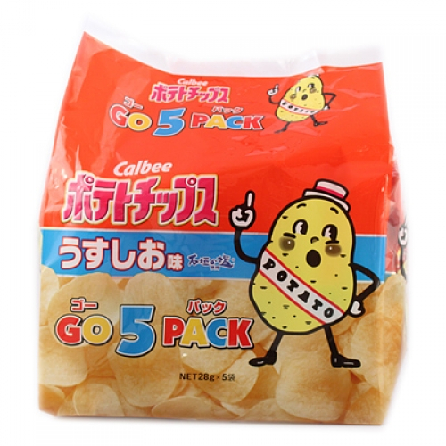 カルビー ポテトチップス 出荷 うすしお味 ゴー5パック 早割クーポン 28g×5袋 ×8個 140g