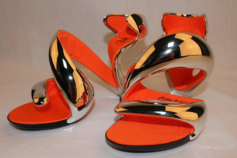 新品 ジュリアン ヘイクス  モヒート サンダル ハイヒール Chrome/orange 39(25cm~25.5cm) No.14072400