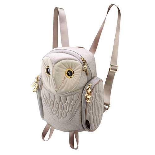 アニマルバッグ モーン Hug.FACTORY The owls メンフクロウバックパック フランネル レディース BO-126 リュックサック MORN ジッパー付き ショルダーストラップ 撥水加工ナイロン 大人リュック アニマル柄 ナップザック レディースバッグ 入学式 入社式 卒業式 ギフト