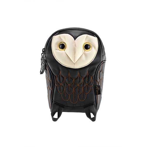 ノベルティプレゼント Hug.FACTORY The owls メンフクロウポーチ BO-104 リュックサック MORN ジッパー付き ショルダーストラップ 撥水加工ナイロン 大人リュック アニマル柄 ナップザック レディースバッグ 入学式 入社式 卒業式 ギフト