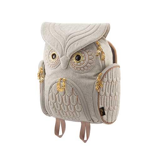 ノベルティプレゼント Hug.FACTORY The owls ミミズククラッシックバックパックフランネル OW-321 リュックサック MORN ジッパー付き ショルダーストラップ 撥水加工ナイロン 大人リュック アニマル柄 ナップザック レディースバッグ 入学式 入社式 卒業式 ギフト