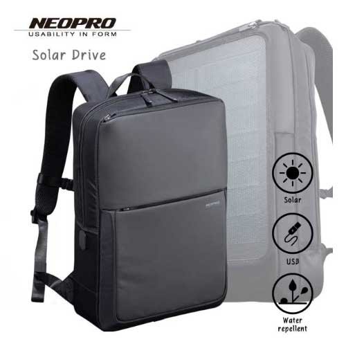 選べるノベルティ10種 クーポンあり あす楽 エンドー鞄 ビジネスバッグ メンズ 2-861 NEOPRO Solar Drive リュック ポリエステルドビー PC収納 スクエア メンズ バッグ メンズバッグ 入学式 入社式 卒業式 ギフト ポイント10倍 プレゼント