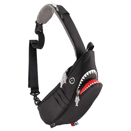 【クーポンで最大8%OFF】Hug.FACTORY Ocean シャークスリングバッグ SK-129 リュックサック MORN ジッパー付き ショルダーストラップ ナイロン 大人リュック アニマル柄 ナップザック サメ シャーク レディースバッグ 入学式 入社式 卒業式