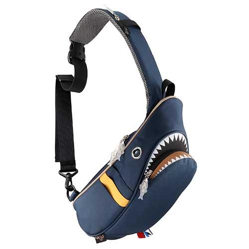 【クーポンで最大8%OFF】Hug.FACTORY Ocean シャークスリングバッグ コンビ SK-229 リュックサック MORN ジッパー付き ショルダーストラップ ナイロン 大人リュック アニマル柄 ナップザック サメ シャーク レディースバッグ