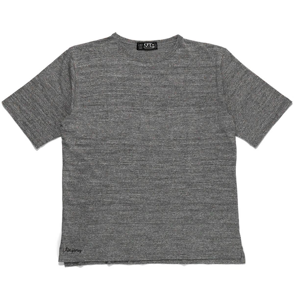 爆安プライス セットアップ 送料無料 正規品 ブランド 通販 あす楽 CFT'S シーエフティーズ 半袖Tシャツ メンズ 男性 丸首 TEE t-shirt SLIT ティーシャツ CFT-S0719S 灰色 グレー カジュアル WHEEL SIDE LOOP GRAY 半そで