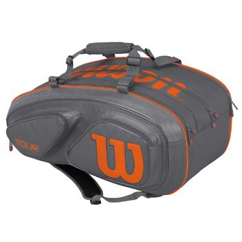 ウイルソン(Wilson)テニスバッグ TOUR V 15 PACK Grey/Orange WRZ841715