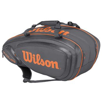 ウイルソン(Wilson)テニスバッグ TOUR V 9 PACK Grey / Orange WRZ847409