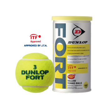【箱売り】ダンロップ(DUNLOP) テニスボール フォート(FORT)2球入缶 (1箱30缶60球)