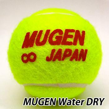 撥水するテニスボール 受注生産 定価 永遠の定番モデル MUGEN BALL 無限ボール ウォータードライ Water 30個 Dry