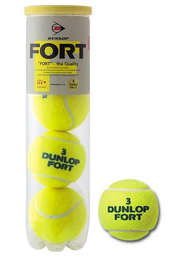 ダンロップ(DUNLOP) テニスボール フォート(FORT)4個入30缶120球1箱