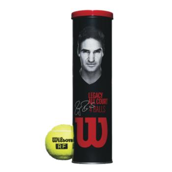 【発売開始!】Wilson(ウイルソン)RF LEGACY BALL(アールエフ レガシー ボール)1箱(4球入×18缶)WRT11990M