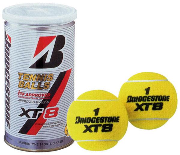 ブリヂストン テニスボール(BBA2XT) XT8(エックスティエイト2球缶) 1箱60球入り30缶(1缶2球入り)