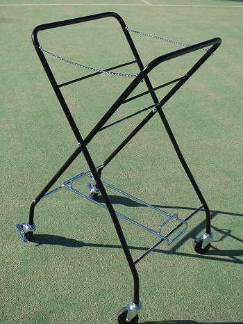 Sanei Industry(三栄産業)2代目テニスボールキャスター2段式(かご無しキャスターのみ)ブラック ※紹介動画有