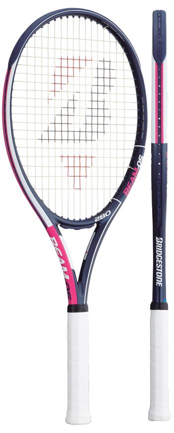 【発売開始】ブリヂストン(BRIDGESTONE) テニスラケット ビームオーエス(BEAM-OS)280ピンク BRABM3