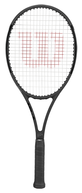 【初代黒×黒 スイス国旗付】テニスラケット ウイルソン(Wilson) PRO STAFF RF97 Autograph (プロスタッフ RF97 オートグラフ)WRT731410 ※フェデラー使用モデル ※スマートテニスセンサー対応