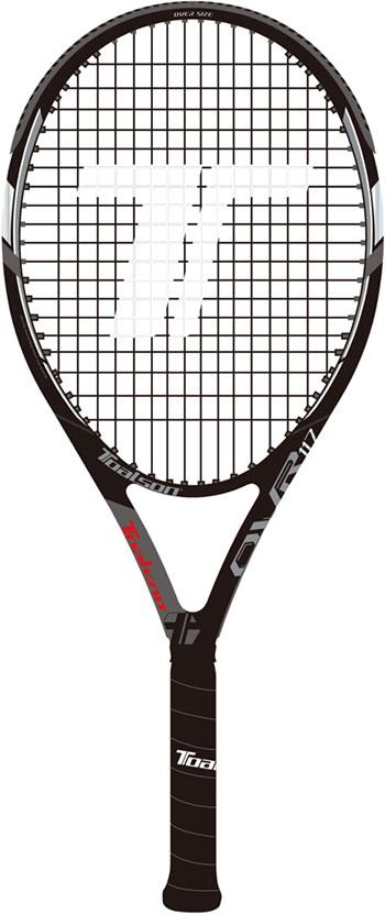 トアルソン(TOALSON) テニスラケット オーブイアール117 ブラック(OVR117)