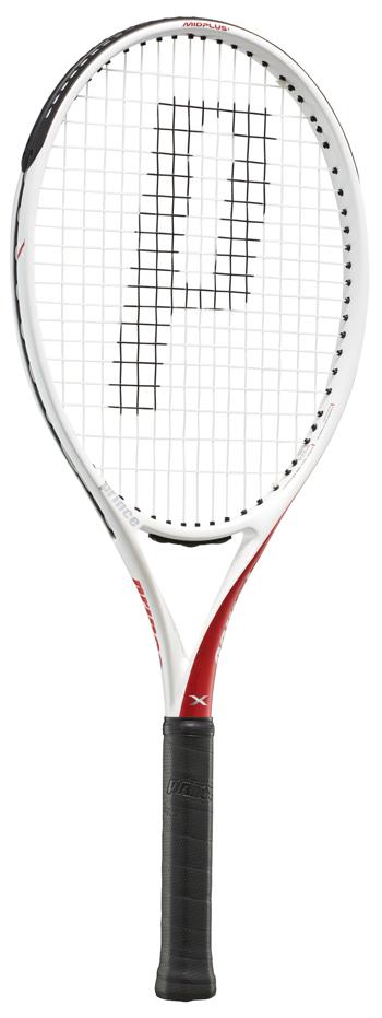 ねじれが巻き起こすバックハンド2.0 ホワイト×レッド Prince プリンス テニスラケット X 105 7TJ131 7TJ128 デポー エックス 左利き用 290g 右利き用 数量限定アウトレット最安価格