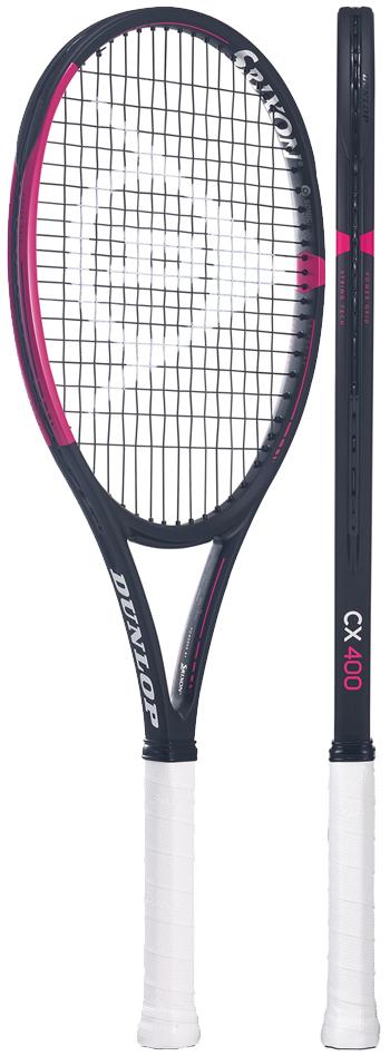 【限定ピンク】テニスラケット ダンロップ(DUNLOP)シーエックス400BK×PK(CX400BK×PK)DS21906 ※スマートテニスセンサー対応
