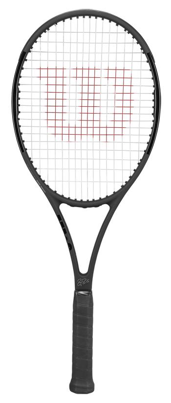 【期間限定】【初代黒×黒 スイス国旗付】テニスラケット ウイルソン(Wilson) PRO STAFF RF97 Autograph (プロスタッフ RF97 オートグラフ)WRT731410 ※フェデラーモデル ※スマートテニスセンサー対応