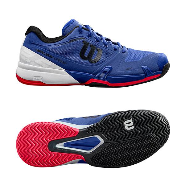 【SALE★在庫限り】Wilson(ウイルソン)テニスシューズ RUSH PRO 2.5 Maz Blue/Wh WRS323660