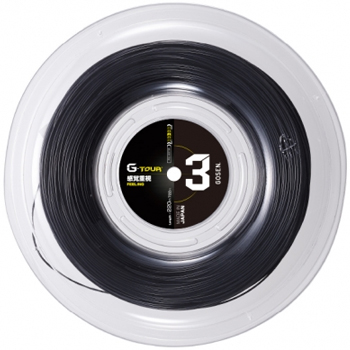 【新色ブラック】GOSEN(ゴーセン)ストリング G-TOUR3(ジー・ツアー3) 16L(1.28mm)BLACK ロール TSGT302BK