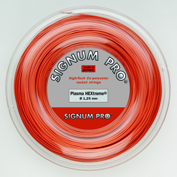 シグナムプロ(SIGNUM PRO) テニスストリング プラズマ ヘキストリーム(Plasma HEXtreme)(200mロール)(ポリエステル)