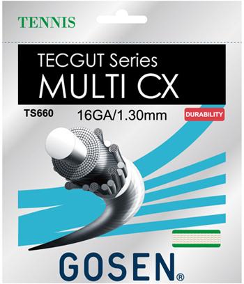 2013年 定番TECGUTと新素材CXが融合 新発売 ゴーセン GOSEN ストリング TECGUT TS661 お洒落 MULTI 返品送料無料 16 CX TS660 17