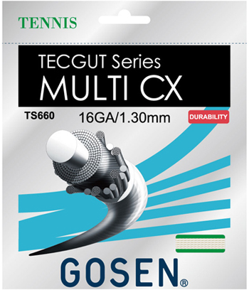 ゴーセン(GOSEN)ストリング TECGUT MULTI CX 16/17 20張りパック(TS660NA20P/TS661NA20P)1050円/張