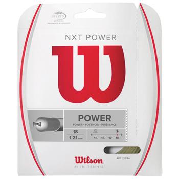 NXT WEB限定 POWERに細ゲージの1.21mmが登場 ウイルソン WILSON WRZ941800 POWER 激安挑戦中 ストリング 18