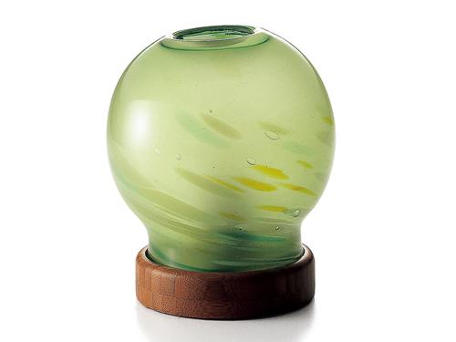 正規店 手作りガラス アロマランプ アロマライト 日本正規代理店品 緑 癒しのアロマランプLサイズ 楽ギフ_のし
