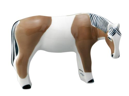 スペイン製高級食器サルガデロスアニマルオブジェシリーズ 馬(茶)