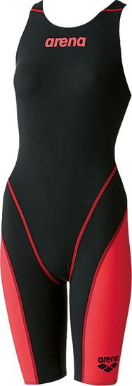 ARENA(アリーナ) レディース競泳用水着(Fina承認) ハーフスパッツオープンバック(クロスバッグ)アクアフォースフュージョン2 ARN7010W-BKRD