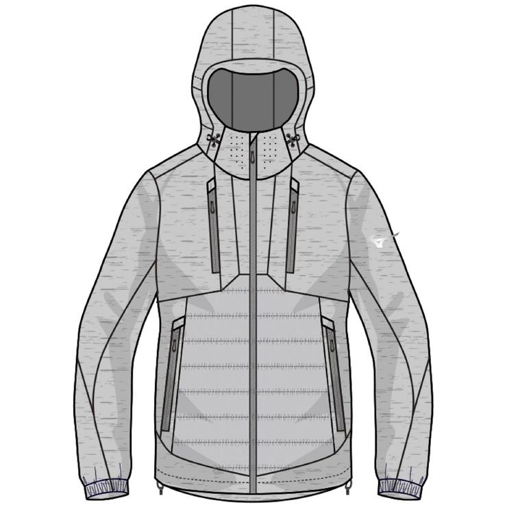 MIZUNO(ミズノ) ブレスサーモテックフィルハイブリッドジャケット アウトドア アパレル メンズ A2ME854505