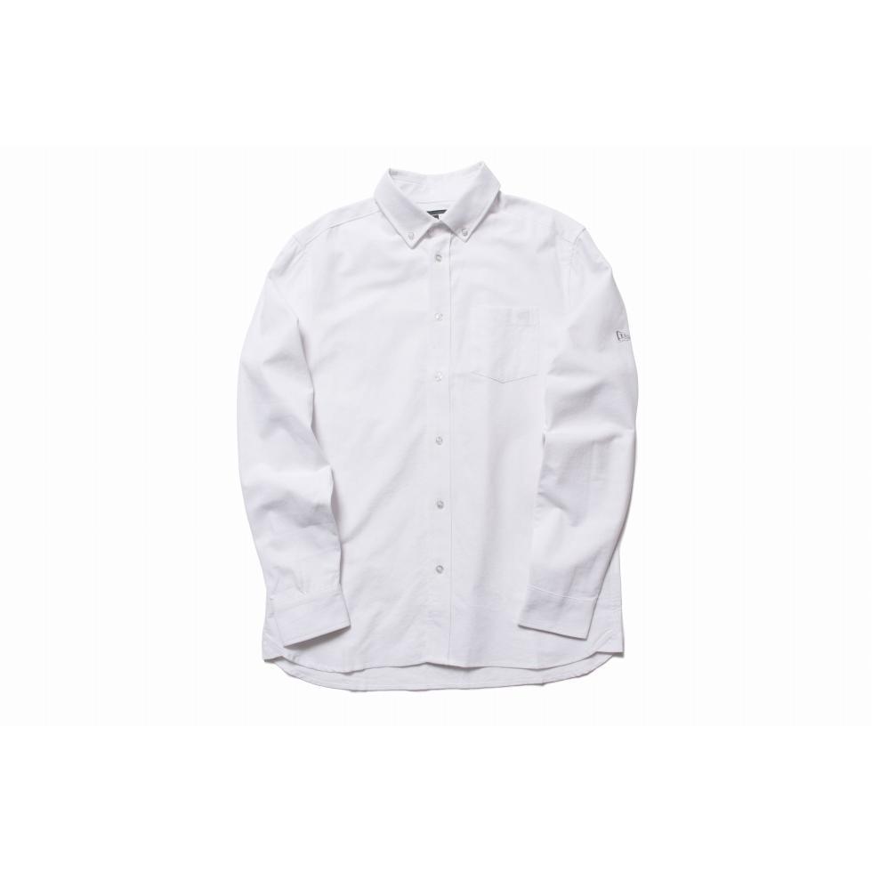 ニューエラ(NEW ERA) 長袖 ボタンダウンシャツ オックスフォード ホワイト 11783100