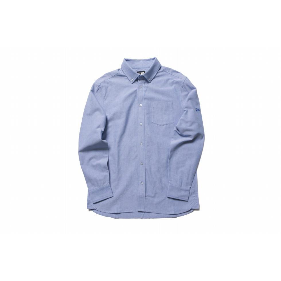 ニューエラ(NEW ERA) 長袖 ボタンダウンシャツ オックスフォード ライトブルー 11783101