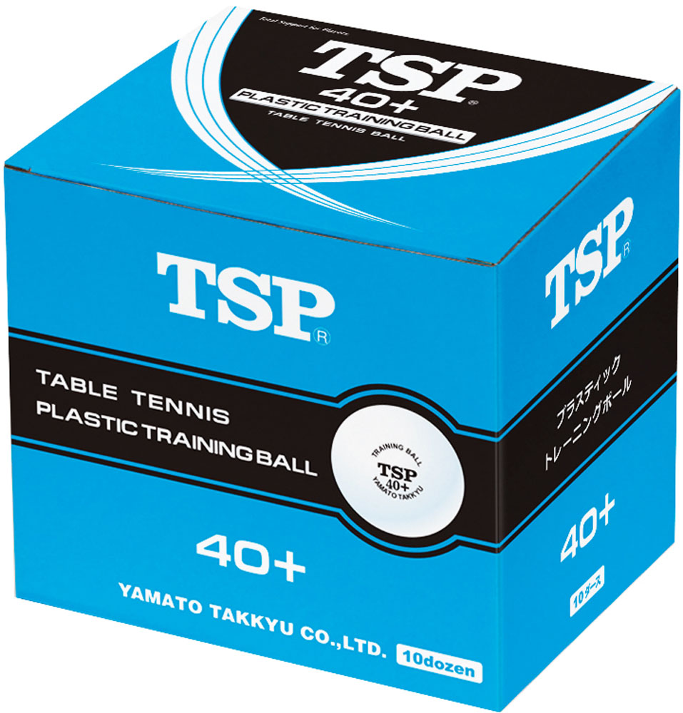 TSP 40mm+トレーニングボール10ダース入り ホワイト 卓球 ボール 010045 (VICTAS)