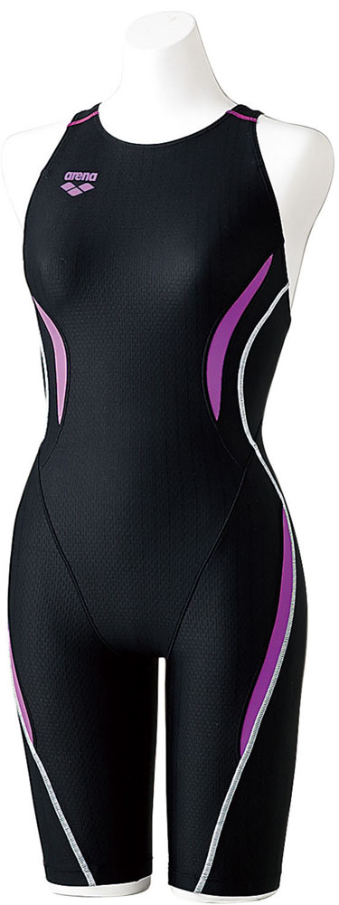 ARENA(アリーナ) 【レディース 競泳用水着(Fina承認)(大きめサイズ)】 セイフリーバックスパッツ(着やストラップ) 水泳 水着 ARN7050WE-BKPL