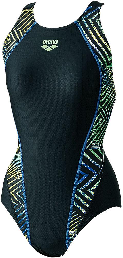 ARENA(アリーナ) 競泳用 セイフリーバック(着やストラップ) アクアレーシング 水泳 水着 ARN8069W-BKBU