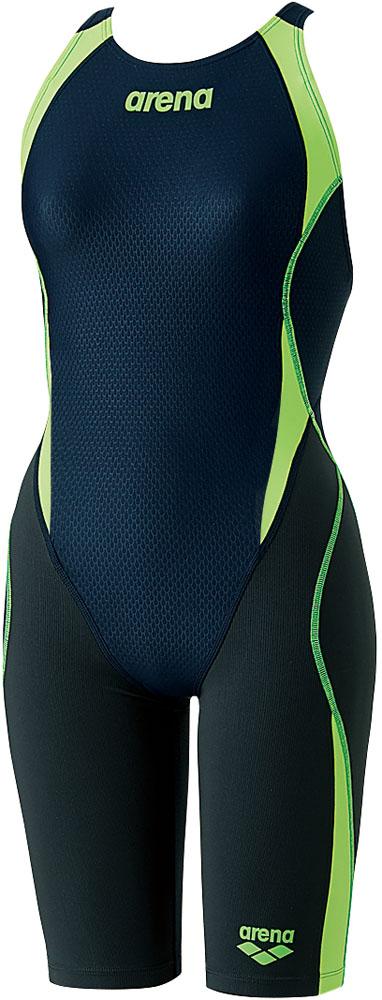 ARENA(アリーナ) 【Fina承認】セイフリーバックスパッツ(着やストラップ) アクアハイブリッド 競泳用水着 水泳 水着 ARN8080W-NVGF