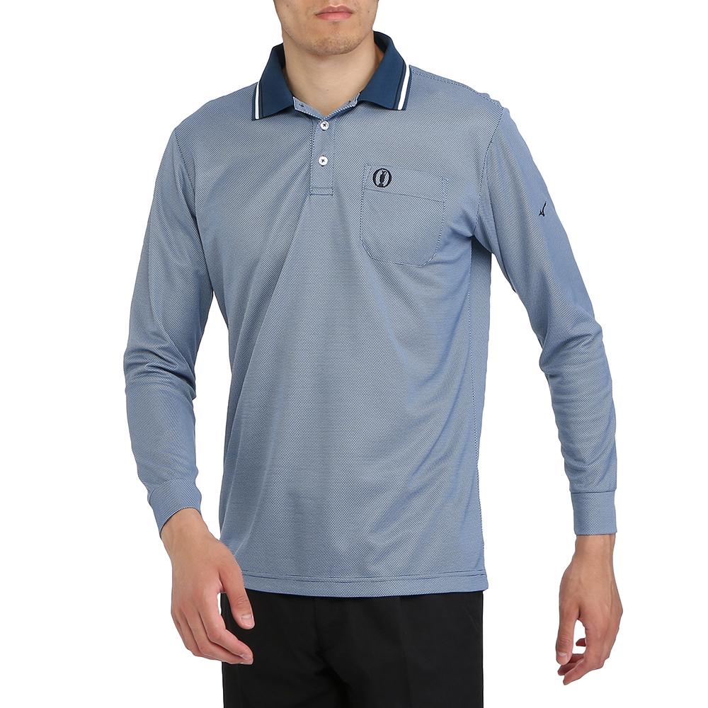 MIZUNO(ミズノ) アイスタッチシャンブレー長袖シャツ(ポロ衿) ゴルフ アパレル メンズ 52MA813223