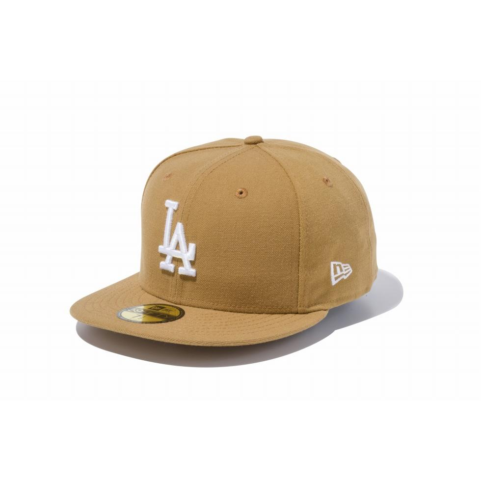 ニューエラ(NEW ERA) 59FIFTY MLB ロサンゼルス・ドジャース ウィート × ホワイト 11308597
