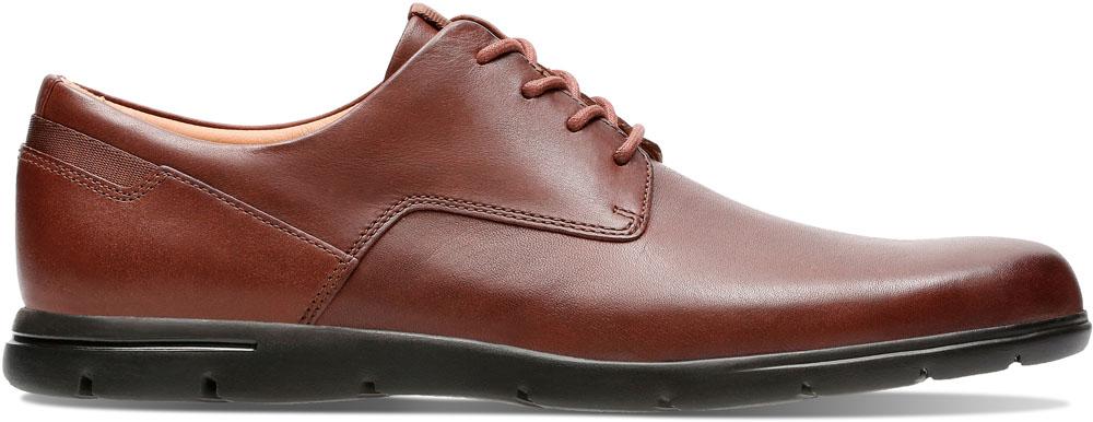 Clarks(クラークス) Vennor Walk Mahogany Leather カジュアル シューズ 26136421 メンズ